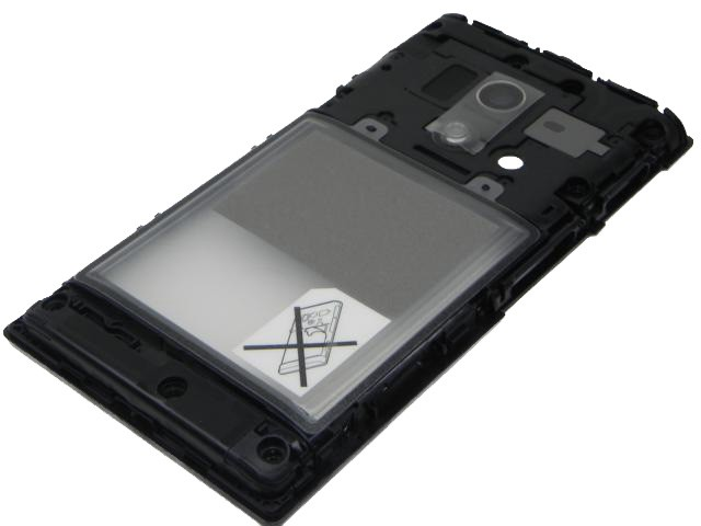 1266-6015 Sony Xperia Acro S (LT26w) - Middle Cover Black