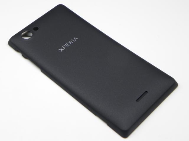 1265-3124 Sony ST26i Xperia J - Akkudeckel / Batterie Cover (Schwarz)