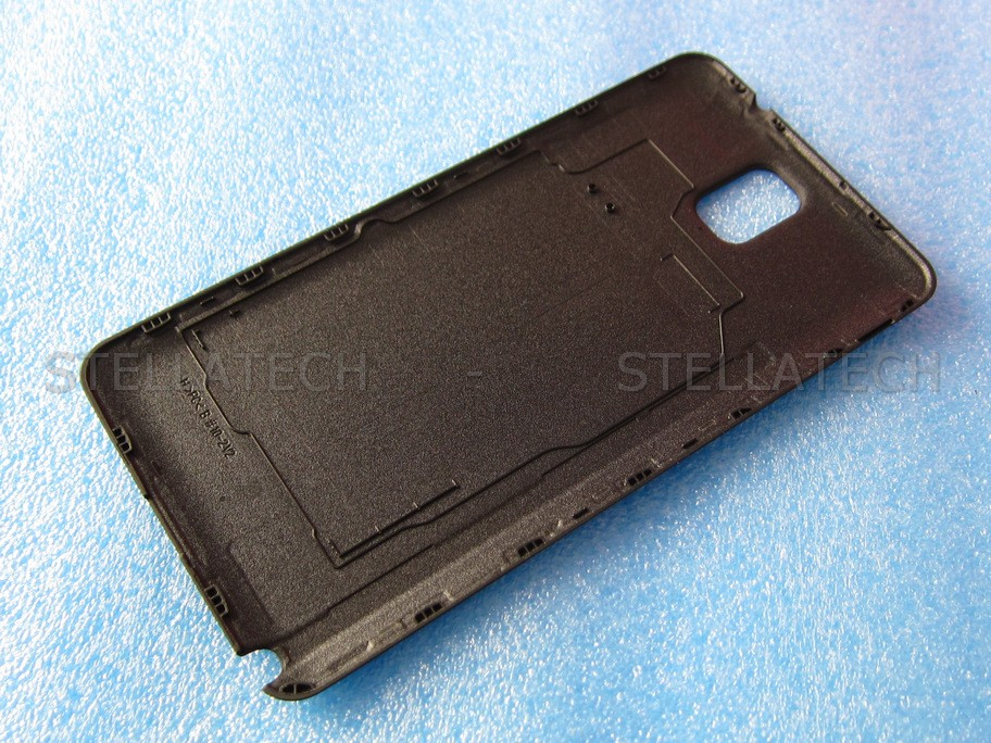 gh98 29019a samsung sm n9005 galaxy note 3 battery cover black. Black Bedroom Furniture Sets. Home Design Ideas