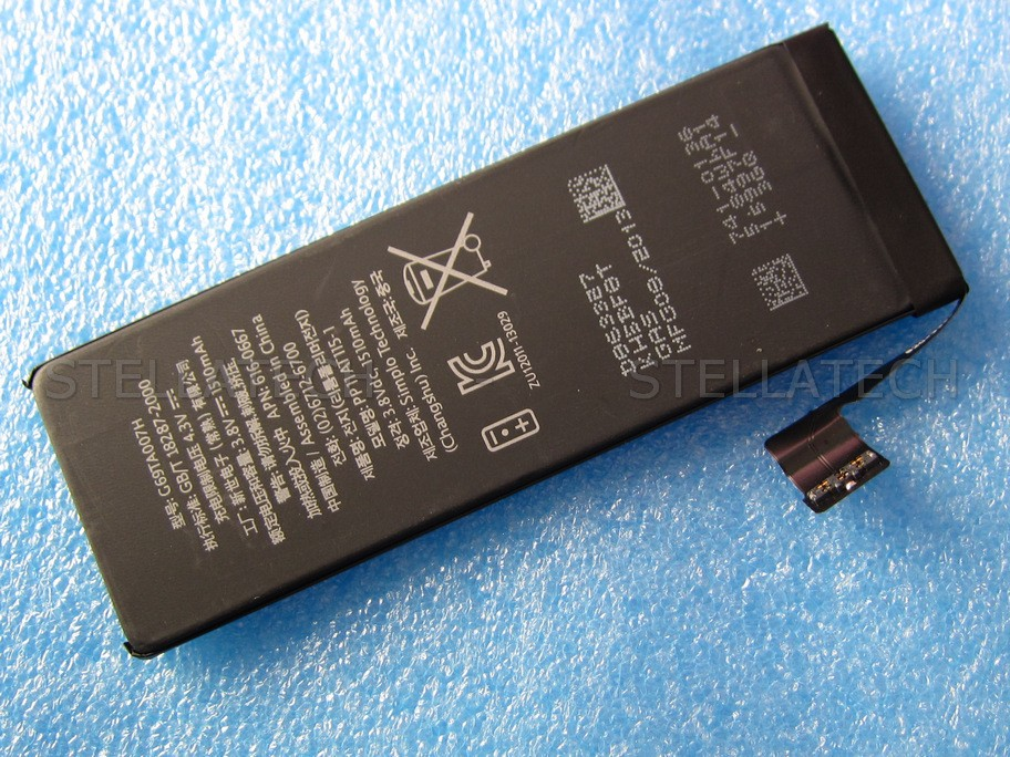 iphone 5c battery apple iphone 5c battery li ion polymer 3 8v 1510 mah 616 11079