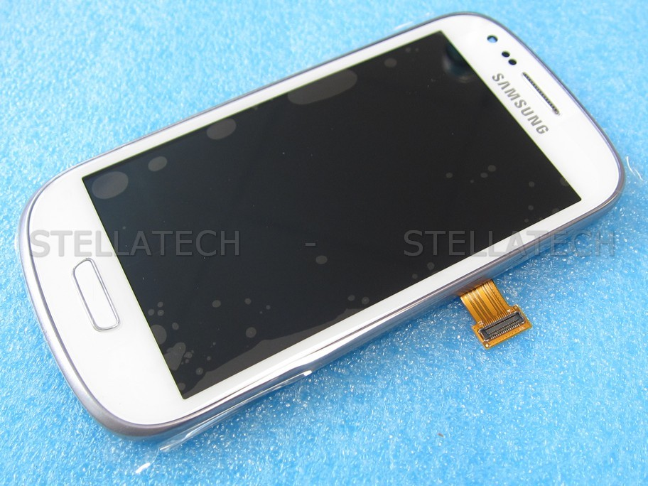 samsung gt i galaxy s mini ve complete front lcd touchscreen whiteaen