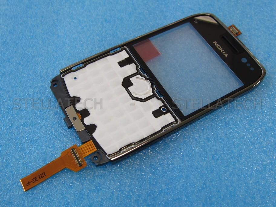 wholesale dealer fe60f c3470 Nokia E6-00 - Front Cover + Lens + UI-Board Black