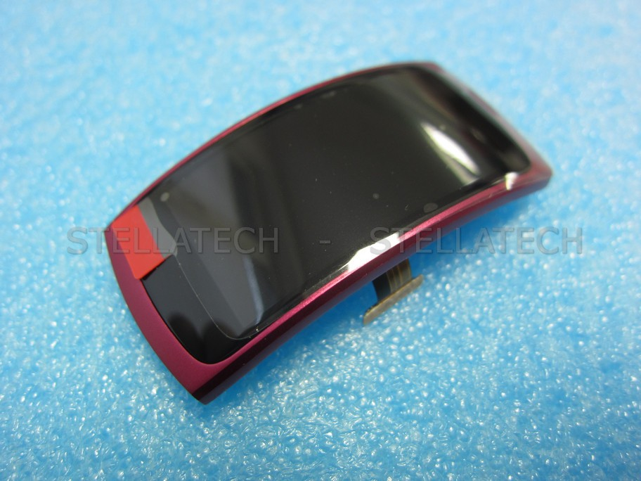 Samsung SM-R360 Gear Fit2 - Display LCD Touchscreen + Rahmen Pink
