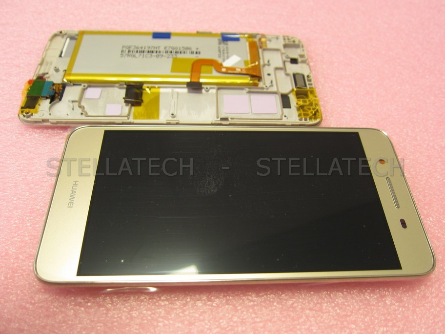 release date 183c1 df18c Huawei GR3 (TAG-L21) - Display LCD Touchscreen + Frame/Battery Gold